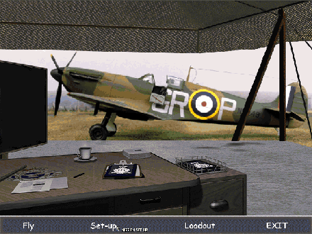early war spitfire 1a from group GR - P in drab camo